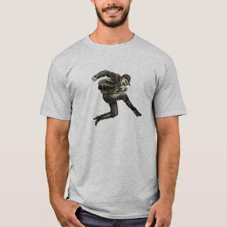Vintager springender Mann-T - Shirt