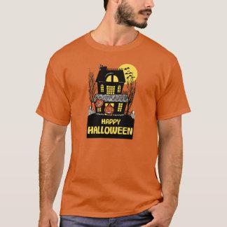 Vintager Spuk Haus-Trick oder Leckerei Halloween T-Shirt