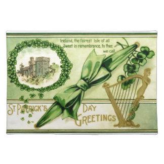 Vintager St Patrick Tag Stofftischset