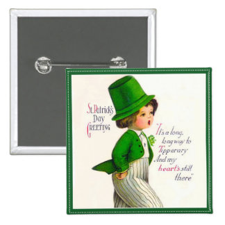Vintager St Patrick Tagesgruß Buttons