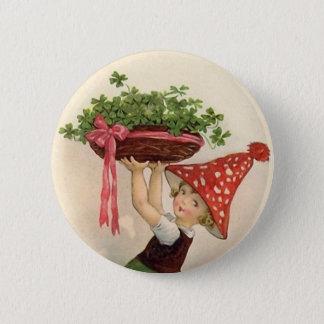 Vintager St Patrick Tagesknopf Runder Button 5,7 Cm