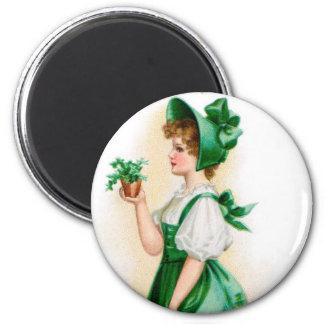 Vintager St Patrick Tagesmagnet Runder Magnet 5,7 Cm