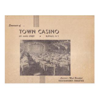Vintager Stadtkasino-Büffel, New York Postkarte