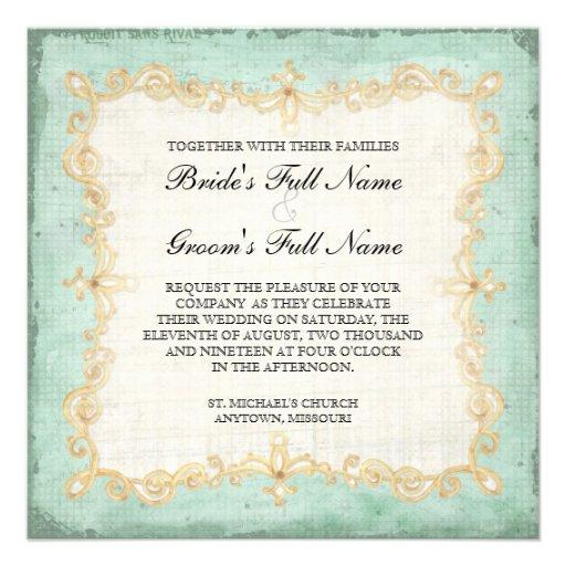 Vintager Stargazer-Lilien-Rosen-Schmetterlingn Personalisierte Einladung