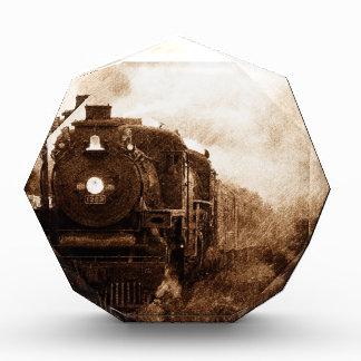 Vintager Steampunk Eisenbahn-Antiken-Dampf-Zug Auszeichnung