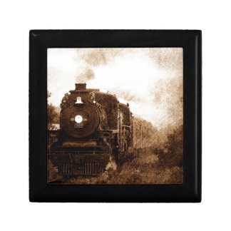 Vintager Steampunk Eisenbahn-Antiken-Dampf-Zug Geschenkbox