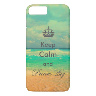 "Vintager Strand ""behalten großes"" Zitat der Ruhe iPhone 8 Plus/7 Plus Hülle"