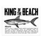Vintager Strand-König Shark Definition Postkarte