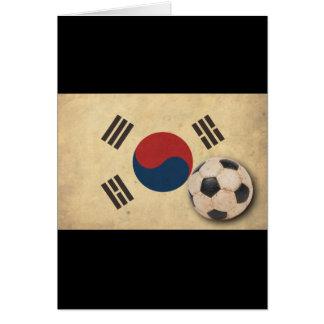 Vintager Südkorea-Fußball Karte