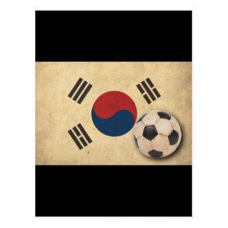 Vintager Südkorea-Fußball Postkarte