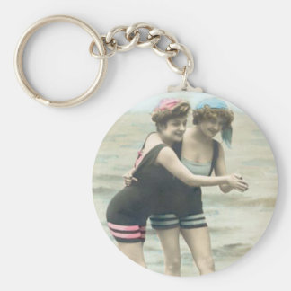 Vintager Sun-Badegast-Strand Keychain Schlüsselanhänger