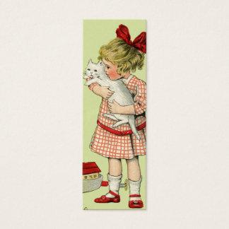 Vintager süßer Mädchen-Geschenk-Umbau oder Mini Visitenkarte