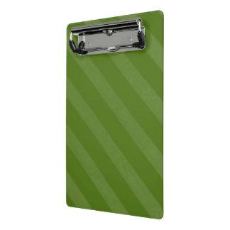 Vintager Süßigkeits-Streifen-olivgrünes weises Mini Klemmbrett