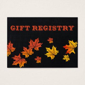 Vintager Tafel-Hochzeit im Herbsts-Geschenkladen Visitenkarte