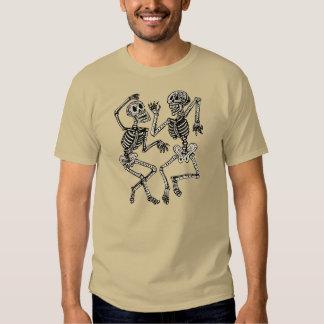 Vintager Tag der toten Tanzen-Skelette T Shirt