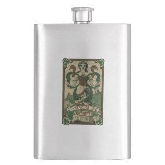 Vintager Tag St. Patricks Flachmann