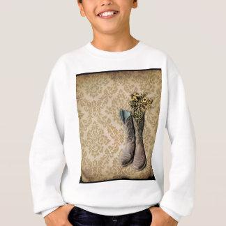 Vintager tan Damast-Western-Landcowboy Sweatshirt