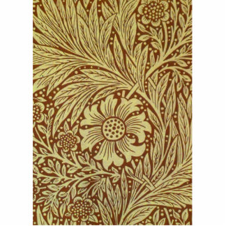Vintager Tapeten-Entwurf Ringelblumen-Williams Mor Freistehende Fotoskulptur