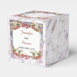 Vintager Tauben-Gastgeschenk Hochzeits-Kasten Geschenkschachtel