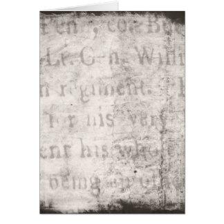 Vintager Text-Hintergrund-Papier-Schablonen-freier Karte