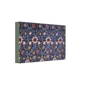 Vintager Textilentwurf Williams Morris Evenlode Leinwanddruck
