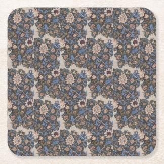 Vintager Textilentwurf Williams Morris Evenlode Rechteckiger Pappuntersetzer
