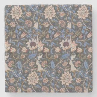 Vintager Textilentwurf Williams Morris Evenlode Steinuntersetzer