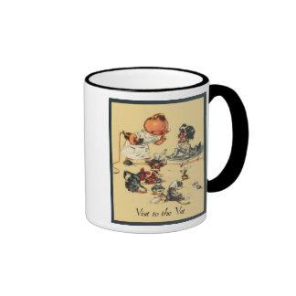 Vintager Tierarzt - Besuch zum Tierarzt Tee Tasse
