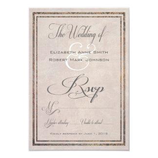 Vintager toskanischer Damast elegante UAWG Karten 8,9 X 12,7 Cm Einladungskarte
