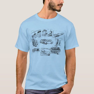 Vintager Trabant Entwurf T-Shirt