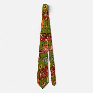 Vintager traditioneller japanisches Papier-Druck Krawatte