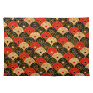Vintager traditioneller japanisches Papier-Druck Tischset