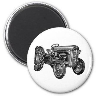 Vintager Traktor Runder Magnet 5,1 Cm