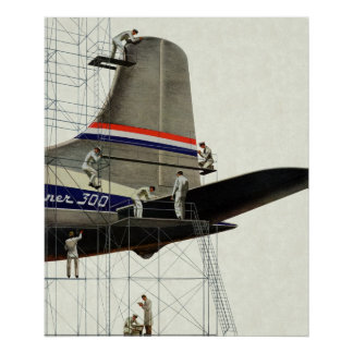 Vintager Transport, Wartung für Flugzeuge Poster