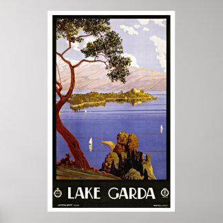 Vintager Travel See Garda Italien Poster