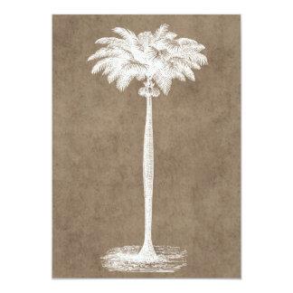 Vintager tropischer Insel-Palme-Schablonen-freier Karte
