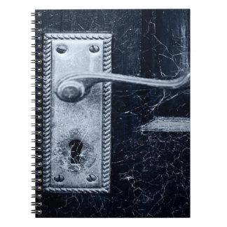 Vintager Tür-Griff Spiral Notizblock
