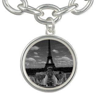 Vintager Turm Eiffel Frankreichs Paris Fontain Armbänder