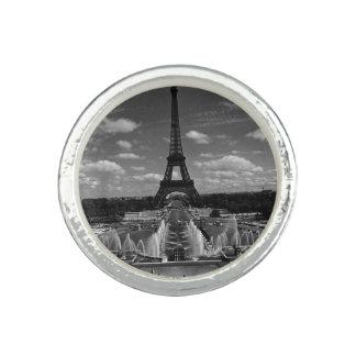 Vintager Turm Eiffel Frankreichs Paris Fontain Ring