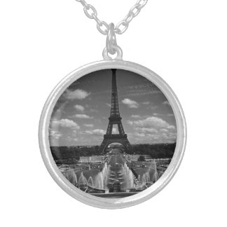 Vintager Turm Eiffel Frankreichs Paris Fontain Versilberte Kette