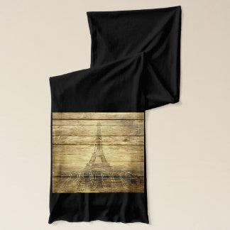 Vintager Turm Paris Eiffel auf Holz Schal