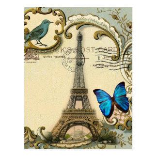 Vintager Turm Paris Eiffel des gatsby Postkarte