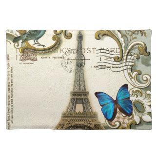 Vintager Turm Paris Eiffel des gatsby Stofftischset