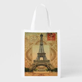 Vintager Turm Paris Eiffel des modernen girly Wiederverwendbare Einkaufstasche