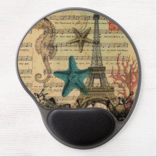 Vintager Turm Paris Eiffel Seashellsstrand Gel Mousepad