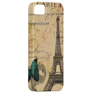 Vintager Turm-Schmetterling Paris Eiffel mit iPhone 5 Etui