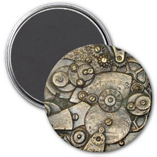 Vintager Uhr-Gang-Mechanismus-runder Magnet Runder Magnet 7,6 Cm