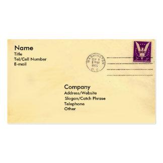 Vintager Umschlag Visitenkarten