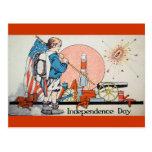 Vintager Unabhängigkeits-Tag/Juli 4. Postkarte