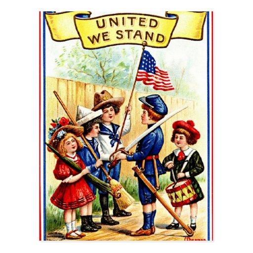 Vintager Unabhängigkeits-Tag Postkarte